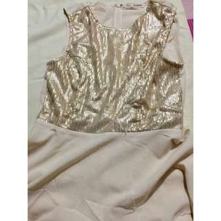 Jellybean gold sequins top