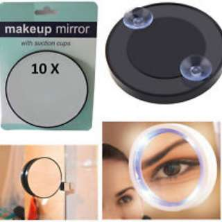Magnifying Mirror 10X Makeup Compact Cosmetic Face Care Shave Travel