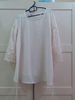 White Lacey Blouse Size M