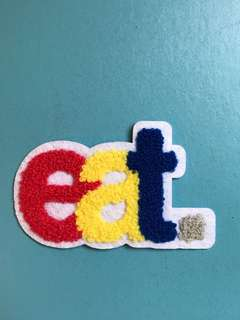 eat 🥣勾冷刺繡熨縫章 embroidery iron-on patch
