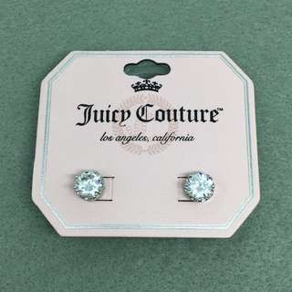 Juicy Couture sample Earrings 銀色閃石皇冠耳環 925純銀針