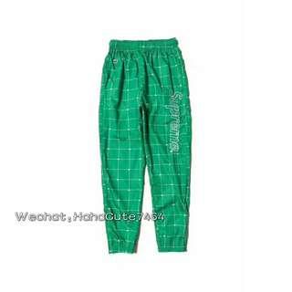 (价格私询)新品 Supreme 18ss 绿色鳄鱼联名长裤