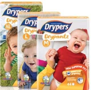 🚚 CARTON SALE Drypers Drypantz