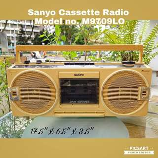 1960-70s Sanyo Radio Cassette Player in Cool Milky-Yellow Colour. Non-Working Display Condition. $35, sms 96337309.