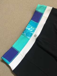 LuluLemon Black (w/ Blue) Pants