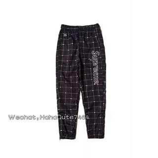 (价格私询)新品 Supreme 18ss 黑色鳄鱼联名长裤