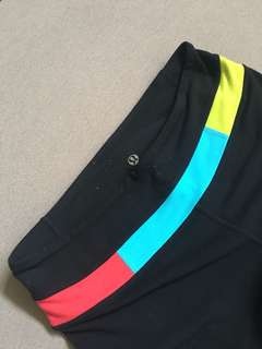 LuluLemon Black (w/ Red Blue Yellow) Pants