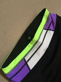 LuluLemon Black (w/ White, Violet, Neon Green) Pants