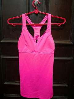 Pink workout top for women EU36