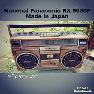 1960-70s National Panasonic Made in Japan RX-5030F Cassette Player. Non-Working Display Condition. $28 clearance offer! sms 96337309 or come to our Vintage Open House tomorrow! :D