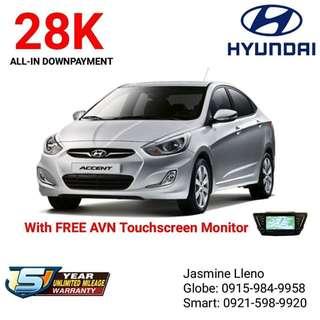 Brand New Hyundai Car Low DP