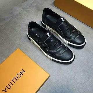 Sepatu pria Lv sneaker ori leather