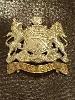 Genuine and original WW2 British Army Manchester Regiment cap badge