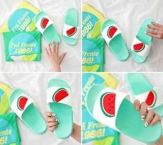 🚚 📌韓國夏日可愛俏皮水果防水軟膠拖鞋