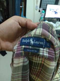 FLANNEL POLO RALPH LAUREN MADE IN MALAYSIA