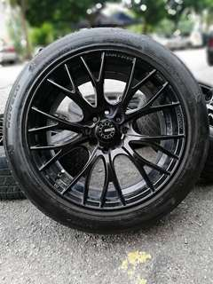 D1 racing 16 inch sports rim ford fiesta tyre 70%. *jualan mora mora, offer raya*