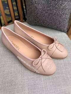 Chanel logo Ballerina Flats - baby pink