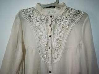 3/4-sleeve summer blouse