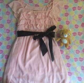 Sale Pink Ruffle Dress