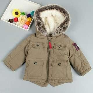 [NEW ARRIVAL] Baby Fur Trim Safari Jacket!