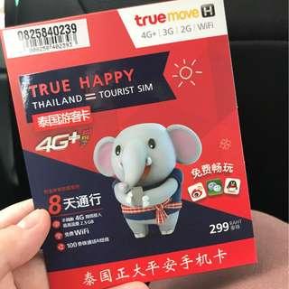 Thailand 4G Data Sim Card (8 days)