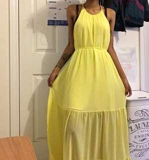 Flowy Yellow Maxi Dress