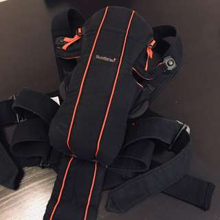 Baby Bjorn Active Carrier w Back Support - Black Red