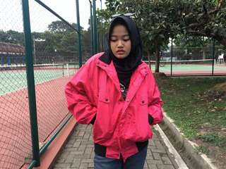 Shocking Pink Bomber Jacket Tracksuit Varsity Black Jaket