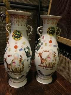 舊花瓶 一對