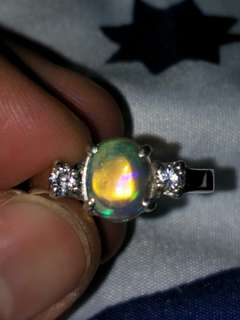 Ring.  African opal size (US 6.5) 925 silver
