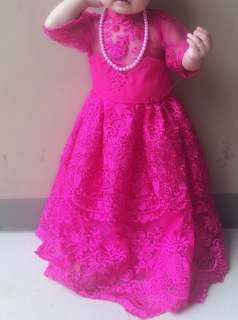 SFS clothing customized pink lace gown