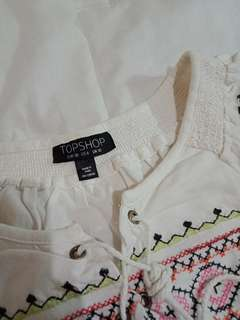 Topshop Boho Cropped Shirt