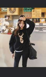 Black Deer Pullover