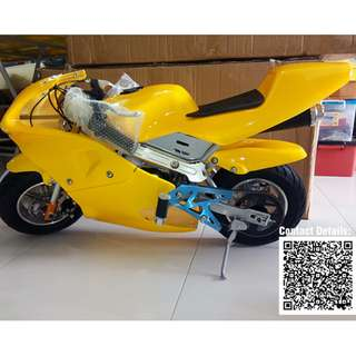 Mini Pocket Bike - Mini Sport Bike 49cc Pure Yellow Color