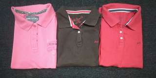 Assorted branded Polo shirts for women