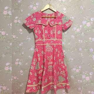 Batik dress pink