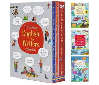 The Usborne English Dictionary Box Set of 3 English for Writers Collection