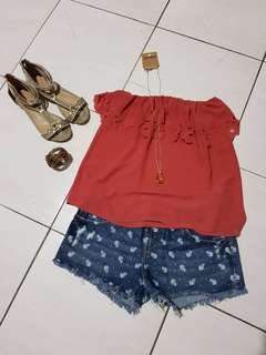 THIS OOTD FOR PHP300 ONLY!!! (Sandals and accessories NOT incuded)