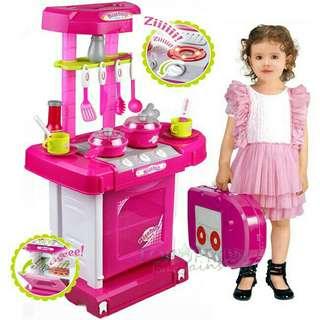 Masakan dapur kitchen set koper anak perempuan
