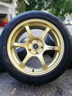 Ssr type c 17 inch sports rim inspira tyre 70%. *mora mora kasi you*