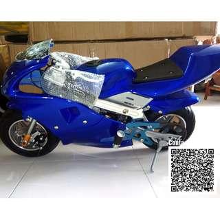 Mini Pocket Bike - Mini Sport Bike 49cc Pure Blue Color