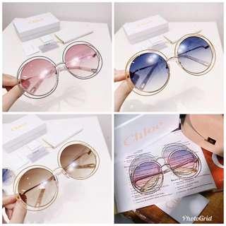 Chloe 圓框麻花款太陽鏡🕶 四個顏色