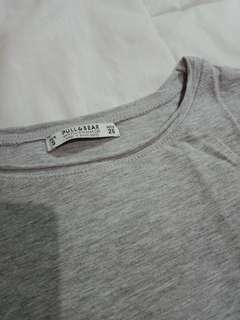PULL&BEAR Grey Basic Shirt