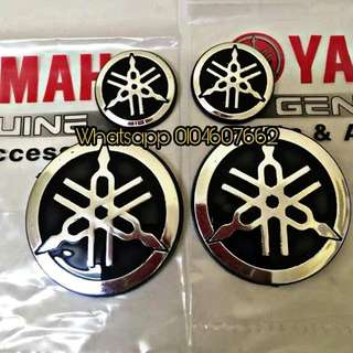 Emblem Chrome Original Yamaha 1 Set (2big 2small)