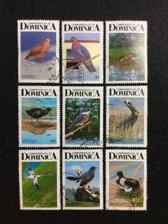 1987 Dominica Birds of Dominica 9V Used Set