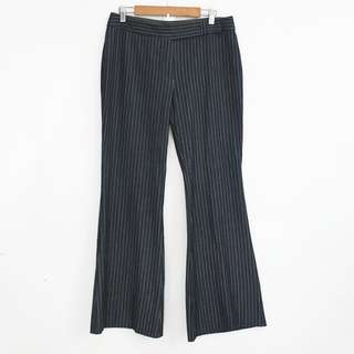 (L-XL) Marks & Spencer Dark Blue Striped Pants Trousers