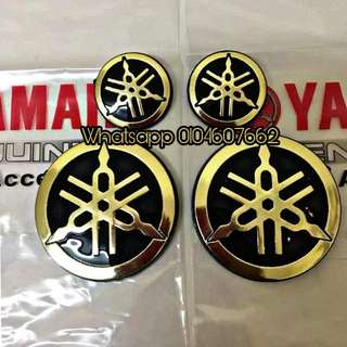 Emblem Original Yamaha Gold 1set (2big 2 Small)