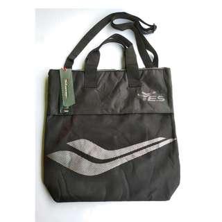 YES Black 2way Gym / Beach/ Shopping Tote Bag