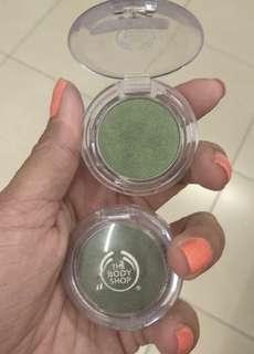 the body shop single eyeshadow light green