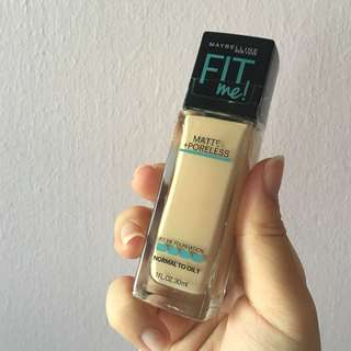 Maybelline Fit Me matte & poreless Foundation 120